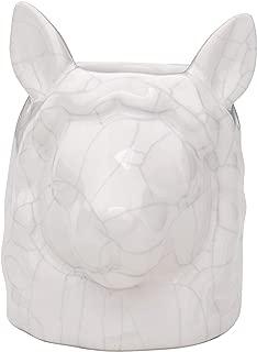 Creative Co-op White Stoneware Llama Head Vase Planter