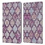 Head Case Designs Officiel LebensArt Maroc Violet Glamour Coque en Cuir à Portefeuille Compatible avec Samsung Galaxy Tab A 10.1 2019