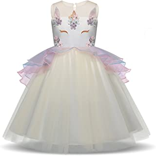 SANNYHHOOT Baby Girl's Flower Tulle Tutu Birthday Dress Princess Pageant Wedding Party Dress up Halloween Fancy Cosplay Costumes