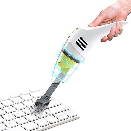 MECO キーボードクリーナー 充電式ミニ掃除機 ウェットドライ コードレス デスク掃除機 ほこり 髪 くず スクラップのクリーニングに最適 ノートパソコン ピアノ コンピューター 車 ペットハウス用
