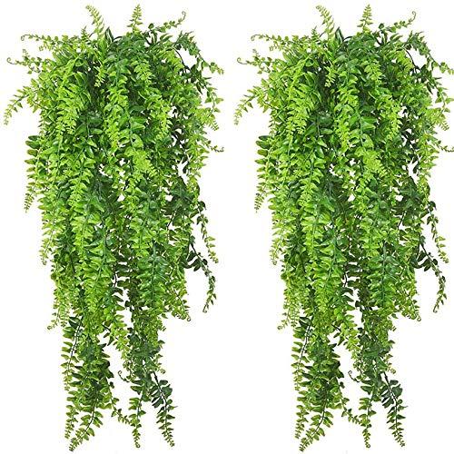 PINVNBY Künstliche Hängepflanzen, Reptilienbecken, Terrarienpflanze, mit Saugnapf, für Bartagamen, Eidechsen, Geckos, Schlangen, Haustiere, Einsiedlerkrebs