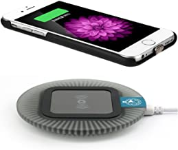 Qi Wireless Charger for iPhone 6 / iPhone 6S, Including Wireless Charging Receiver Case and (Sleep-Friendly) Wireless Charging Pad Station, Black