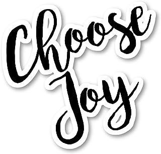 Choose Joy Sticker Inspirational Quotes Stickers - Laptop Stickers - Vinyl Decal - Laptop, Phone, Tablet Vinyl Decal Stick...