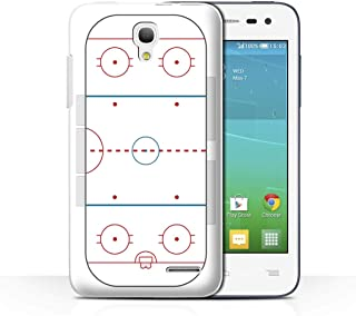 Phone Case for Alcatel OneTouch Pop S3 American Sports Field/Pitch Ice Hockey Design Transparent Clear Ultra Slim Thin Hard Back Cover