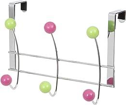 Compactor Snoepgoed deurkapstok met 6 hout, verchroomd staal | Wooden gekleurd, chroom/multicolor ballen, niet van toepassing