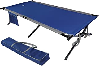 EVER ADVANCED Oversized XXL Folding Camping Cot for Outdoor Travel Portable Tent Bed with Carry Bag Support to 550 lbs