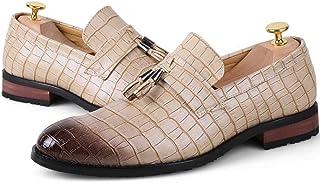 [DOUERY LTD] ビジネスシューズ 防水 25.5cm メンズ靴 靴 シューズ 本革 外羽根 軽量 軽い ビジネス 通勤 仕事 衝撃吸収 滑りにくい 27.0cm ブラウン ブラック タッセル