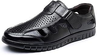 [ONE MAX] カジュアルシューズ メンズ ビジネス オフィス サンダル ドライバーシューズ メッシュ ベルクロ 夏 通気性 軽量 ウォーキング 紳士靴