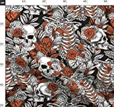 Halloween, Anatomie, Totenkopf, Medizin, Vintage, Gothic,