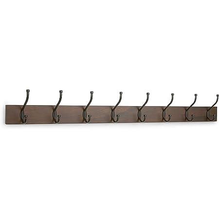 Legno Appendiabiti da parete Confezione da 2 8 ganci moderni 92 cm Legno Basics Barnwood