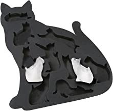 What On Earth Cat Ice Cube Tray - BPA-Free Silicone Kitty Shaped Mold for Candy Making or Gelatin Setting