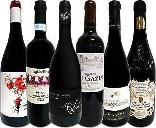 濃厚赤ワイン好き必見 大満足のフルボディ6本セット 赤ワイン 飲み比べセット 京橋ワイン厳選 フランス スペイン イタリア 人気の欧州赤ワイン