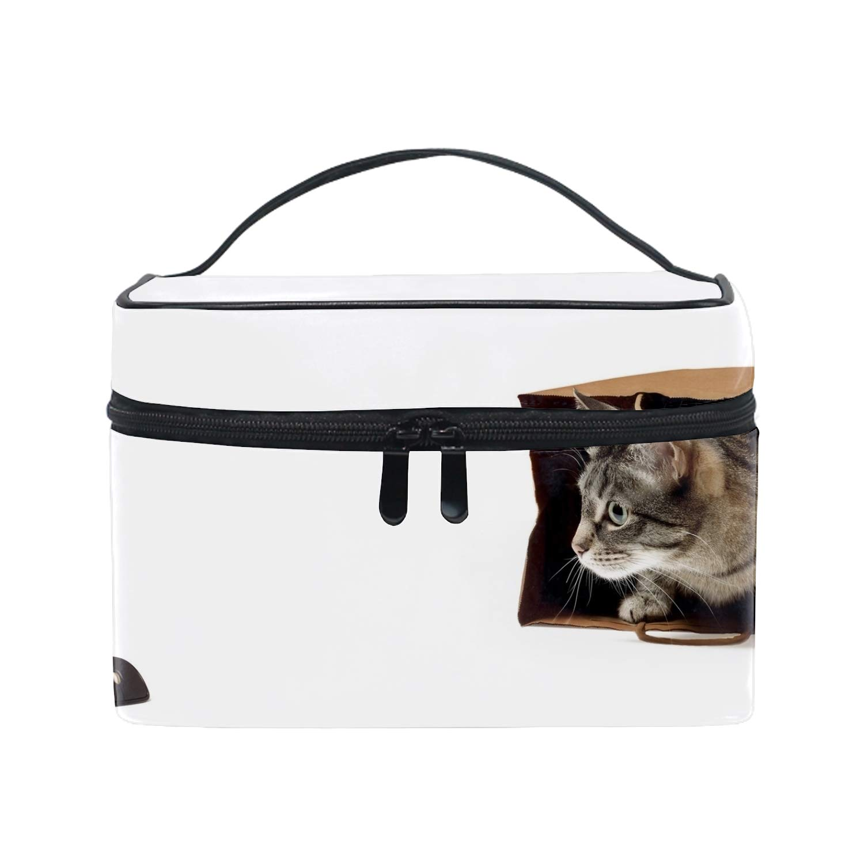 Animals Cat Pet Bag Computer Mice Humorメイクボックス コスメ収納 トラベルバッグ 化粧 バッグ 高品質