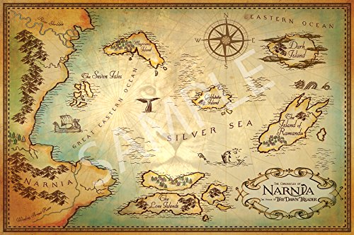 Best Print Store - The Chronicles of Narnia, The Voyage of The Dawn Treader, Map Poster (11x17 inches)