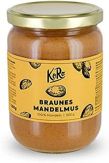 KoRo - Purée d'amandes brunes   500 g - 100% d'amandes sans sucre ni sel, crème de noix sans additifs