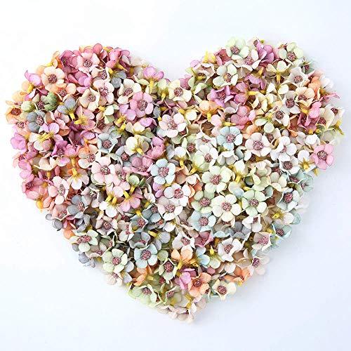 NWSX Künstliche Blumen Daisy Flower Head Mini Blumen künstliche für Dekoration Seidenblumen für Crown Scrap Gefälschte Blumen Hochzeit Wohnkultur DIY Girlande Kopfschmuck 100 stücke 2 cm (Multicolor)