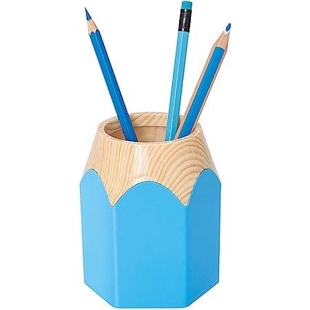 Wedo 245255010Pot à crayons Crayon en forme de crayon en plastique résistant Env. 8, 5x 7, 5x 10, 5cm, bleu clair