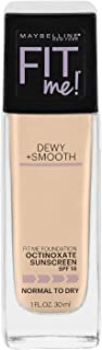 Maybelline New York Fit Me Dewy + Smooth Foundation, Classic Ivory, 1 Fl. Oz (Count of 1) (Packaging May Vary)