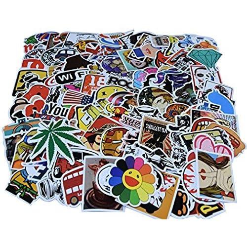 Diageng Random Styles Vinyl Stickers, 6 - 12cm (Pack of 100)