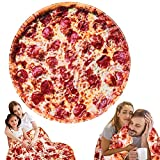 Freesooth Pizza Throw Blanket Novelty Pizza Blanket Funny Food Blanket Comfortable Soft and Cozy Throw Blanket for Bed,Couch or Travel