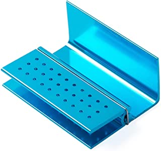 Easyinsmile® Dental Handpiece Tips Holder Sterilizing Diamond Burs blue 15/30 holes (30 holes)