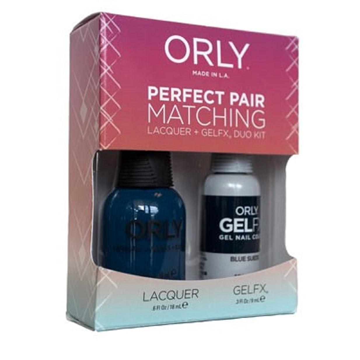 ライトニング以上感染するOrly - Perfect Pair Matching Lacquer+Gel FX Kit - Blue Suede - 0.6 oz/0.3 oz