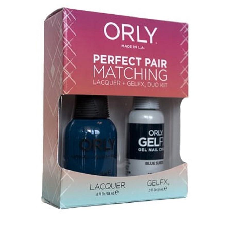 可能性部門シェーバーOrly - Perfect Pair Matching Lacquer+Gel FX Kit - Blue Suede - 0.6 oz/0.3 oz