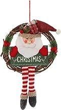 Ganghuo Kerst Rotan Krans Leuke Lange Legged Pluche Pop Hanger Mooie Deur Hanger Creatieve Xmas Party Props Decoratie