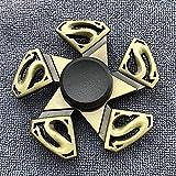Fidget Spinner Color de latón aleación de zinc Allay Metal Hand Spinner Dados Bauhinia Rudder Exterior Finger Smoother Finger Tri Spinder Gyro Juguete para Niño