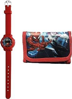 Marvel Spiderman Digital Reloj Y Cartera Oficial con Licencia Niños Set de Regalo