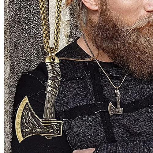 Los hombres usan collares pendientes Joyas con colgante de hacha Vi Joyas escandinavas Joyas de fiesta de rock and roll personalidad y moda a juego Regalo esposo padre novio. regalo de cumpleaños