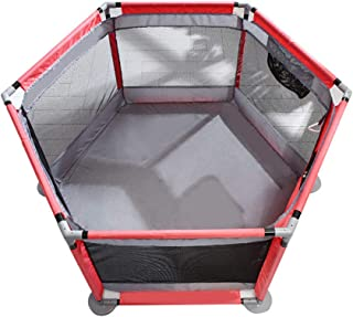 SXXDERTY-playard Infants Playpens Kids Folding Play Tent Indoor Outdoor Baby Playards Fence with Storage Bag and Breathable Mesh  Safety Gates Play Center with Door and Pull Ring
