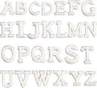 Quality Glitter Sillver Letter Patch Patches Sew on Alphabet Embroidery Clothes