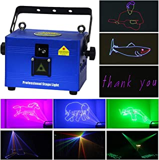 New Mini Rgb Full Color Laser Light Dj Disco Club Stage Christmas Show High Power Rgb Animation Laser Projector