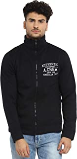 AMERICAN CREW Men's Cotton Polyester Fleece Jacket