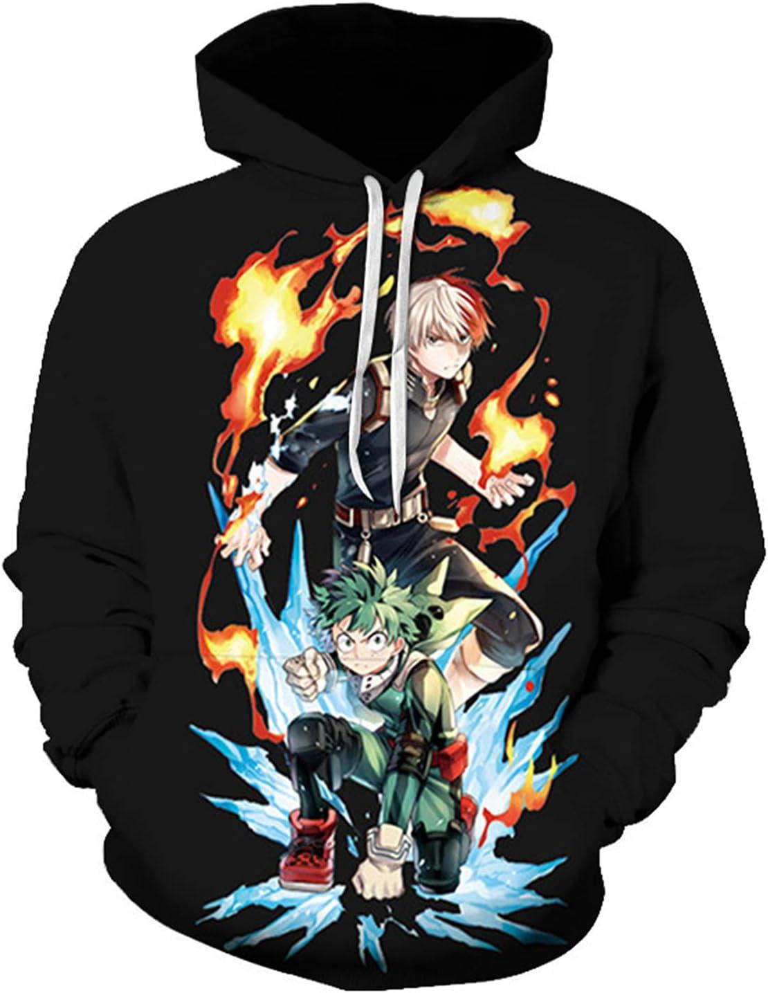 NEW before selling Cheap bargain RTGB My Hero Academia Hoodie Pullover Casual Co Sweatshirt Loose