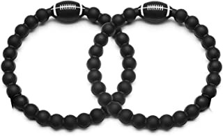 XIEXIELA American Game Day Collegiate Football Baseball Silicone Bracelets NFL MLB Party Favors for School Gifts Supplies Kids Adult