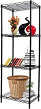 YOHKOH 4-Tier Wire Shelving Unit Metal Storage Rack Adjustable Organizer Perfect for Pantry Laundry Bathroom Kitchen Close...