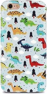 GOLINK iPhone 6 Case for Girls/iPhone 6S Case, Cute Dinosaurs Matte Finish Slim-Fit Ultra-Thin Anti-Scratch Shock Proof Dust Proof Anti-Finger Print TPU Gel Case-Dinosaurs