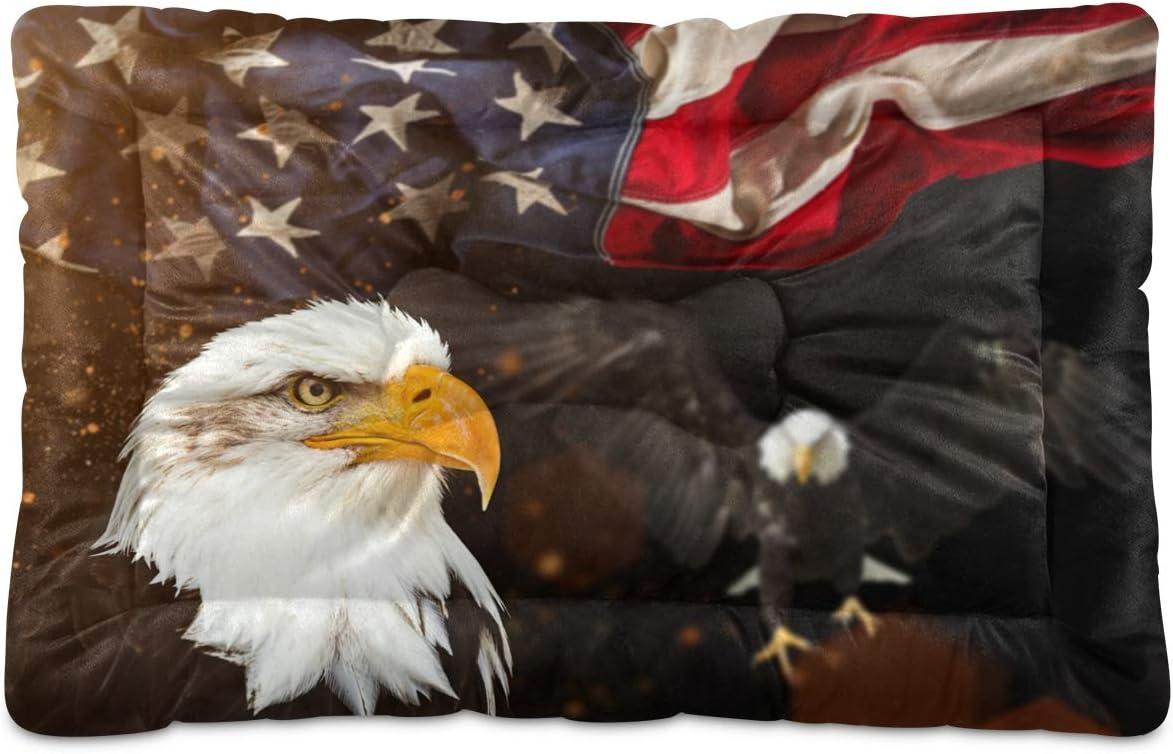 STAYTOP Vintage American trust Flag Bald Beds Wash Max 85% OFF Non-Slip Eagle Pet