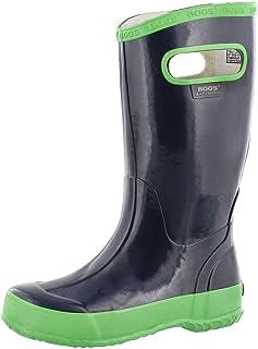 حذاء المطر Bogs للأطفال من المطاط المقاوم للماء للأولاد والبنات، طباعة مشكال بألوان أسود/متعدد، مقاس 10 M أمريكي للأطفال ا...
