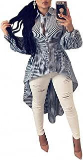 Bloomyma Women Plus Size Stretch Print Bodycon Long Sleeve Jumpsuit Romper