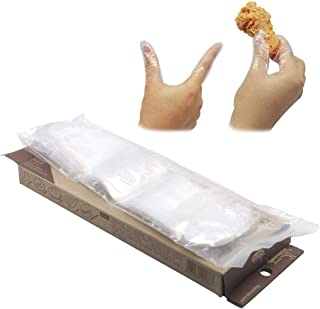 Disposable Mini Sanitary Glove Finger Nap Sanitary Disposable Clear Gloves Home Kitchen Cook BBQ, Hamberger, Chicken, Pizz...
