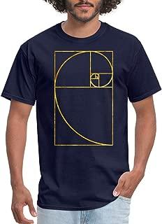 Golden Ratio Fibonacci Spiral Men's T-Shirt