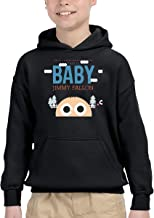 YEUHFLJKD This is Baby Jimmy Fallon Hoodie Sweater with Pocket for Bpys Kids Girls