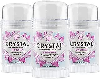 Crystal Body Deodorant Stick - 4.25 Oz Pack of 3