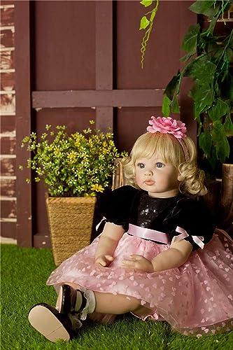HWBB Reborn Baby Dolls 24   60cm High-End-Geschenk Simulation Puppe niedlichen Spielzeug lebensechte Junge mädchen Spielzeug Neugeborenes Baby Reborn Puppen Beste Geburtstag, B