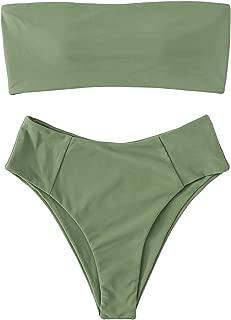 Women's Sexy Bikini Set High Waist Wrap Padding Bandeau Bathing Swimwear Suit