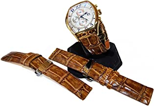product image for Saddle Tan Alligator Watch Strap, Crocodile Watch Band Replacement Collection by John Allen Woodward