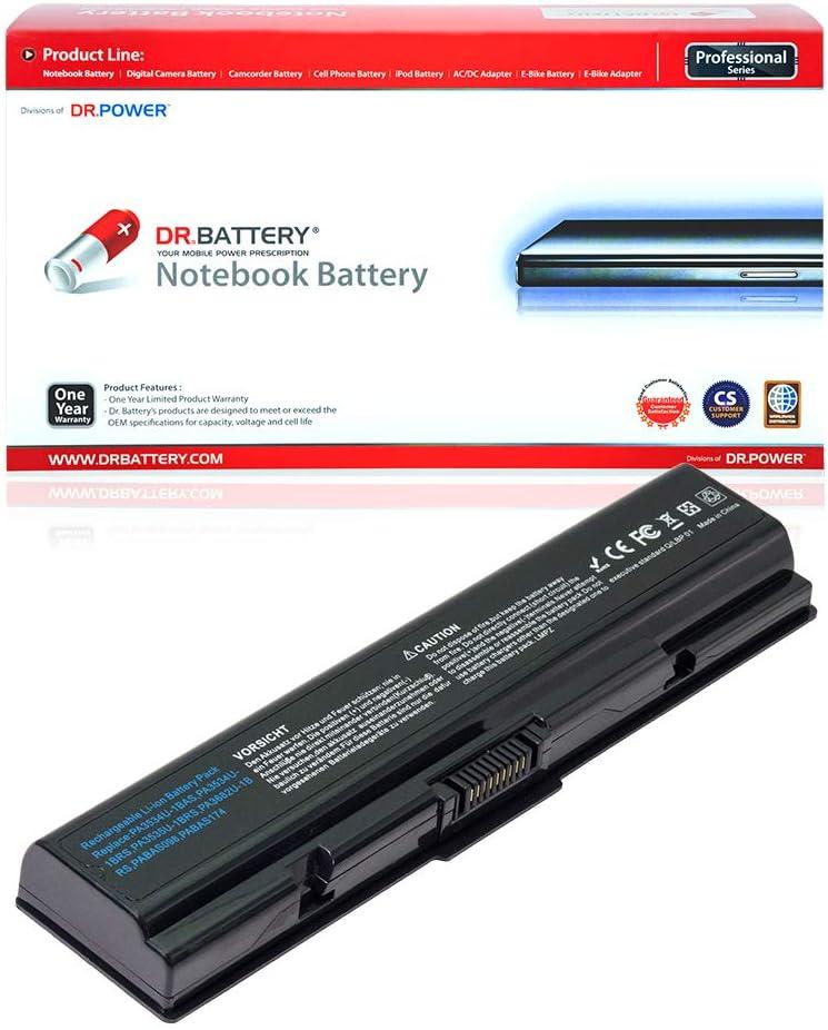 DR. BATTERY PA3534U-1BRS PA3534U-1BAS Battery Compatible with Toshiba Satellite L300 L500 L505 L550 L555 PA3533U-1BRS PA3535U-1BRS PA3535U-1BAS PABAS174 PABAS098 PABAS097[10.8V/4400mAh/48Wh]